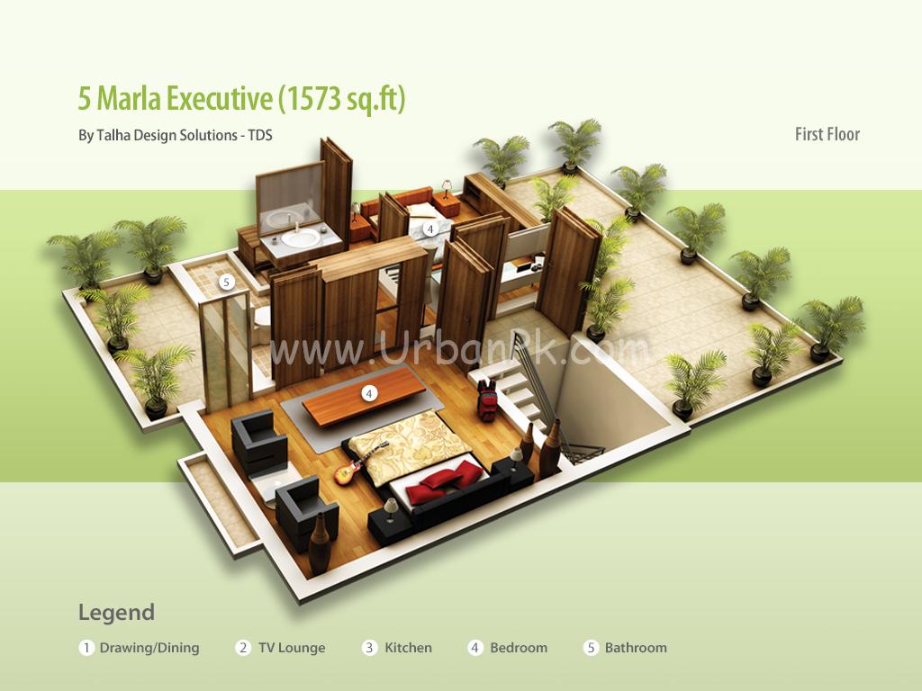House Maps 5 Marla 5 marla - executive b - model